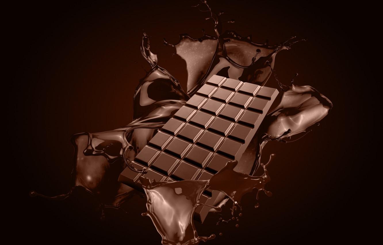 Photo wallpaper squirt, chocolate, splash, chocolate bar