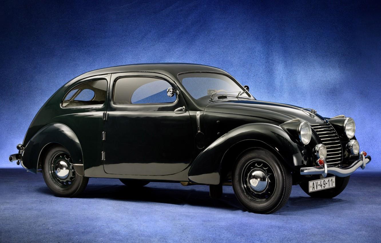 Photo wallpaper black, Skoda, Skoda, 1939, Type 922, Rapid OHV Streamlined Tudor