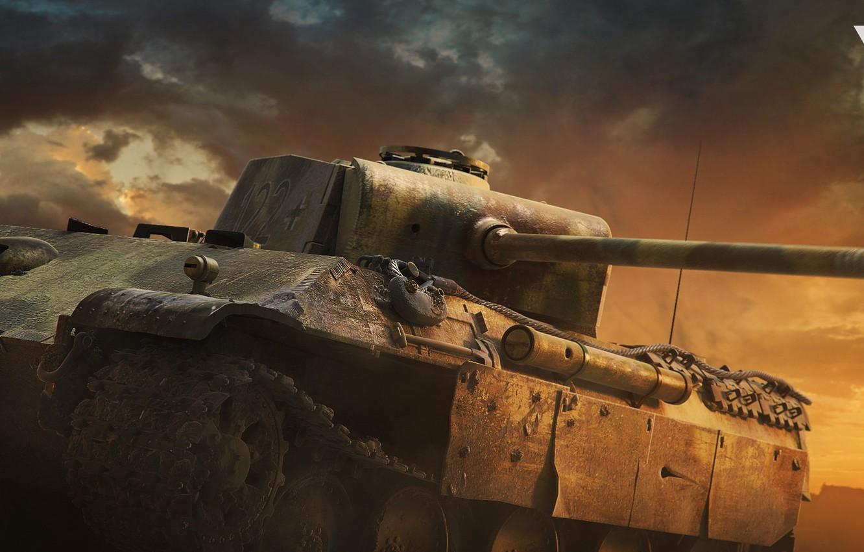 Photo wallpaper tower, tank, gun, War thunder Cinematic