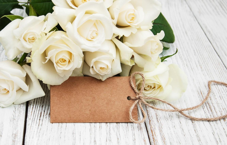 Photo wallpaper roses, love, white, buds, white roses, flowers, romantic, roses, valentine`s day