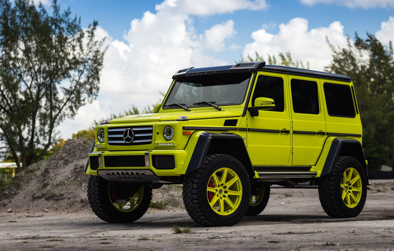 Photo wallpaper Mercedes, 4x4, HRE, G550, TR188