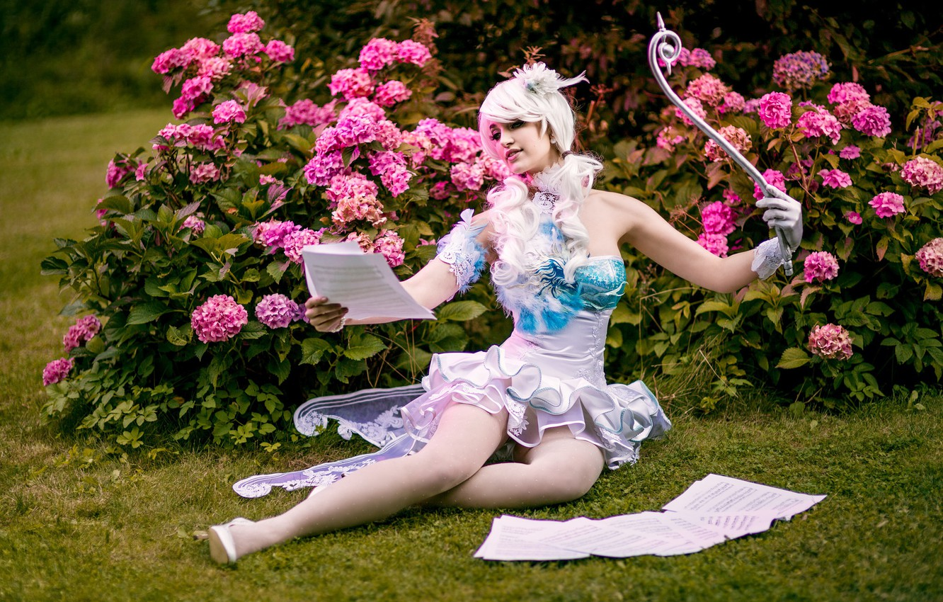 Photo wallpaper girl, nature, model, fairy, outfit, cosplay