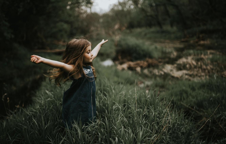 Photo wallpaper freedom, nature, girl