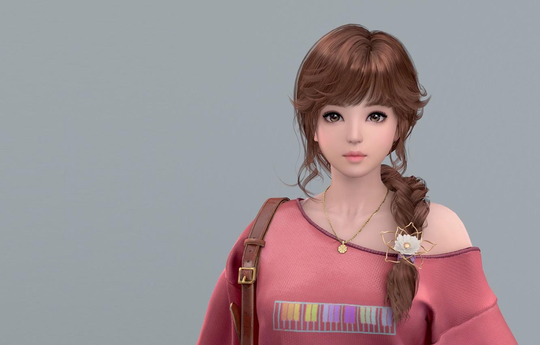 3D Asian Girl wallpaper girl, art, asia girl. (2017), kiyong sim images