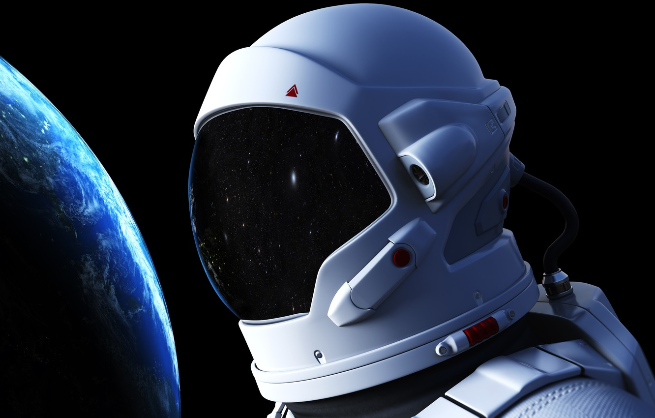 Photo wallpaper space, astronaut, the atmosphere, art, Earth, gravity, beautiful, infinity, weightlessness, bokeh, astronaut, wallpaper., the output …