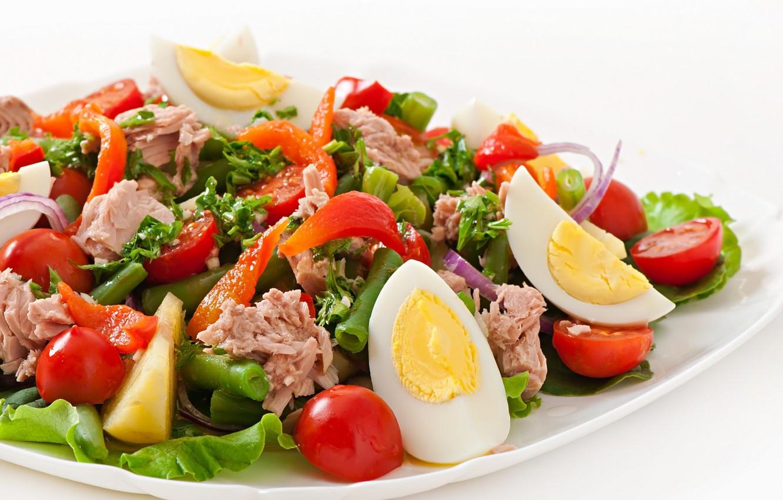 tomatoes, salad, tuna, Nicoise