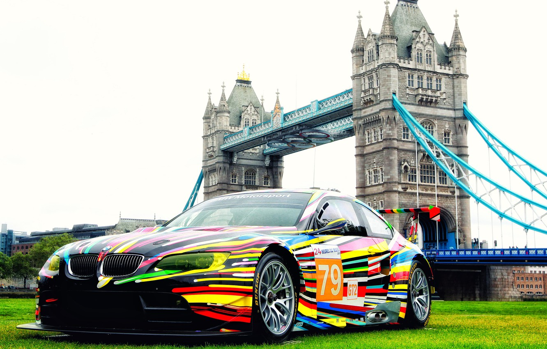 Photo wallpaper London, Color, Auto, Vinyl, BMW, Sport, Machine, BMW, The hood, Lights, Color, Art, Art, Tower …