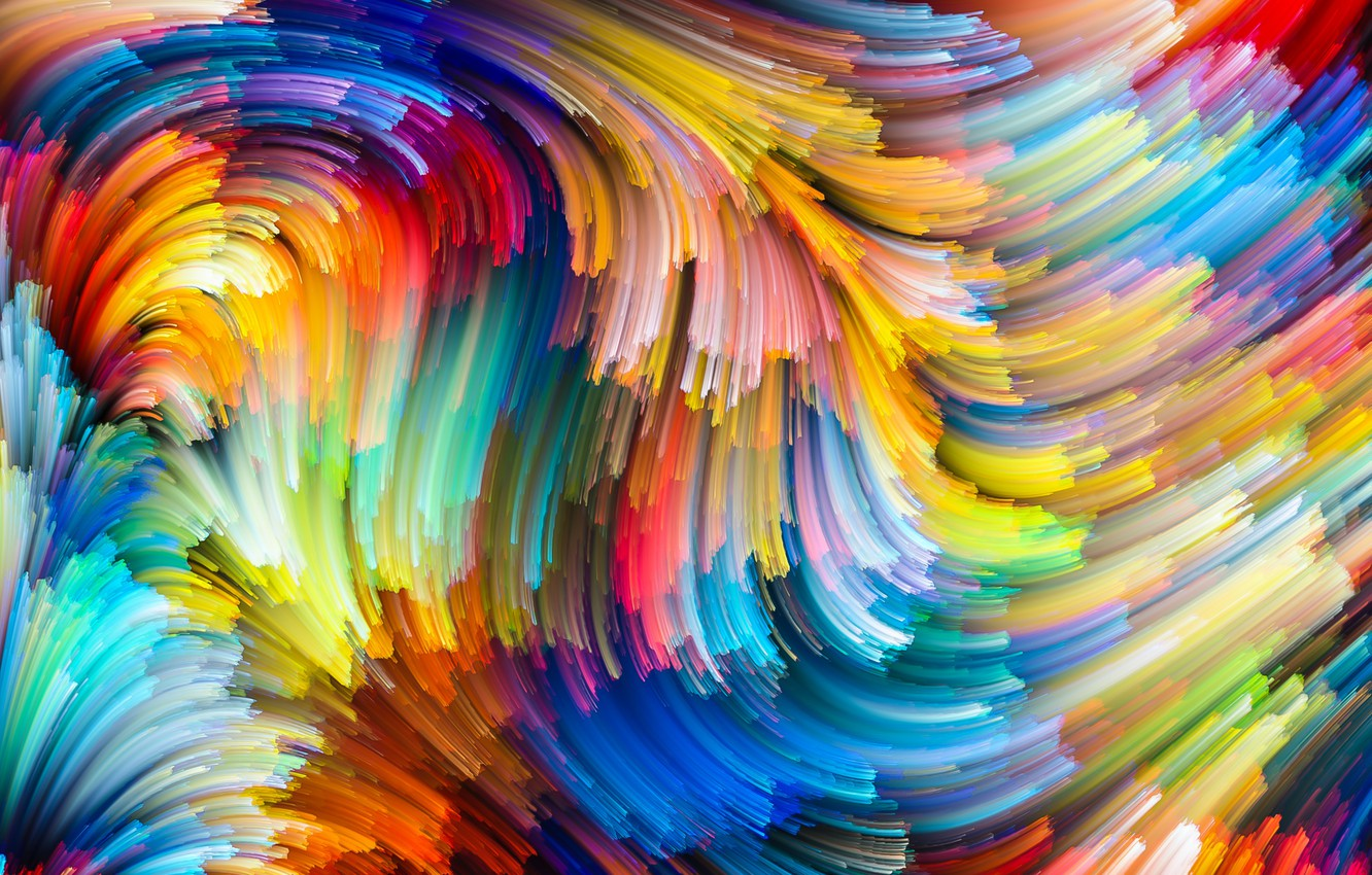 Wallpaper Paint Colors Colorful Abstract Rainbow