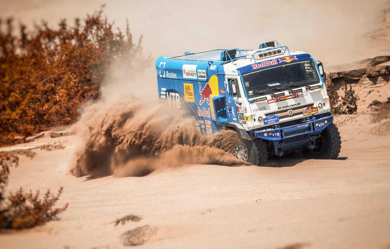 Photo wallpaper Sand, Sport, Speed, Truck, Race, Master, Russia, 500, Kamaz, Rally, Dakar, KAMAZ-master, Dakar, Rally, KAMAZ, …