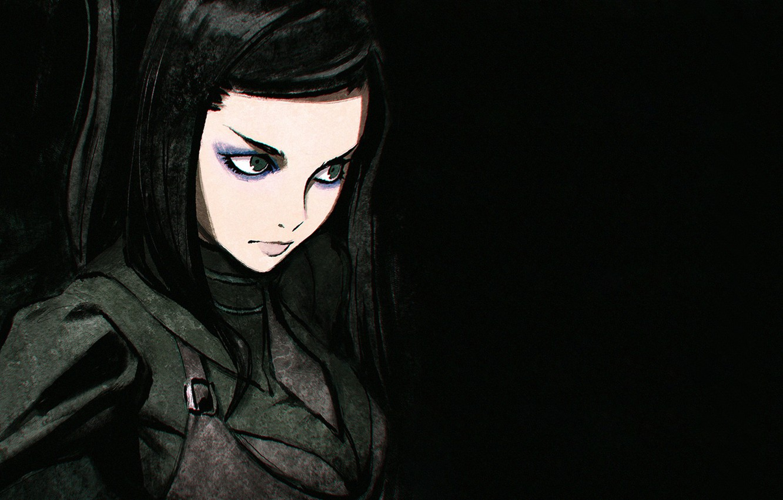 Photo wallpaper girl, anime, cyberpunk, art, ergo proxy