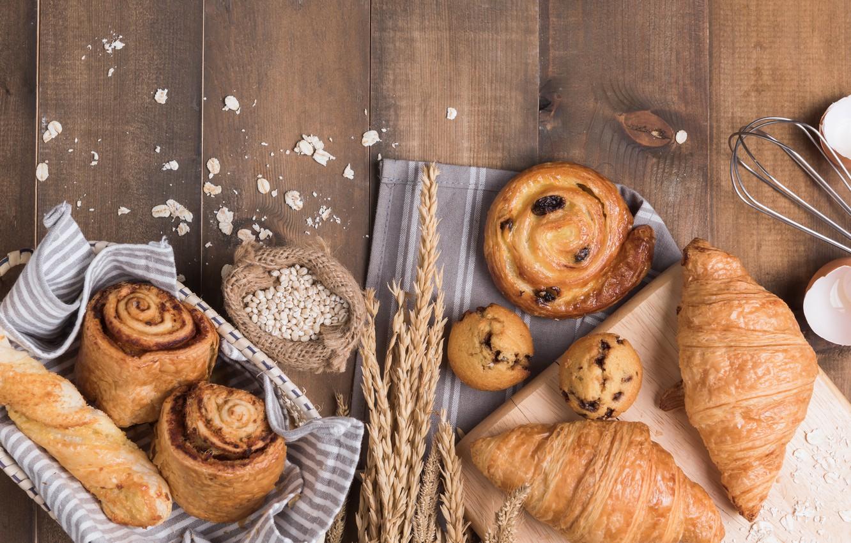Photo wallpaper background, cakes, buns