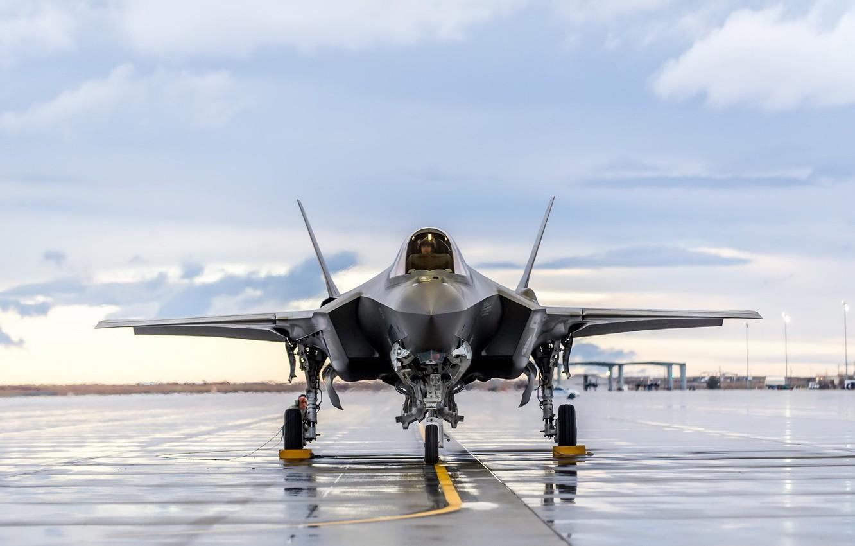 Photo wallpaper Lightning, F-35, Lockheed Martin