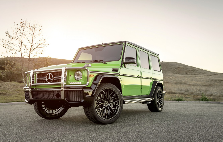 Photo wallpaper Mercedes, Green, AMG, G63, W463