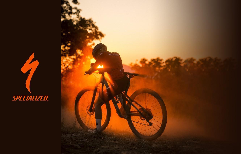 Photo wallpaper the sun, rays, sunset, bike, sport, light, sport, bike, bicycle, bike, racer, sunset, cycle, race, …