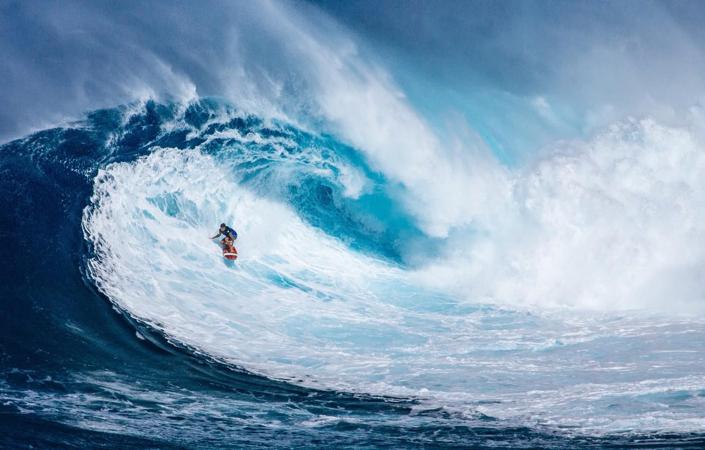 Photo wallpaper sea, blue, surfing, men, Wave, Rough, Surfing board
