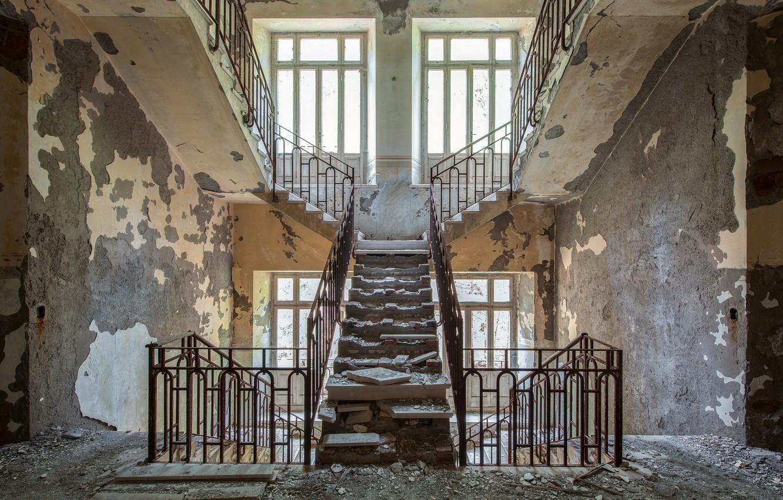 Photo wallpaper house, interior, ladder