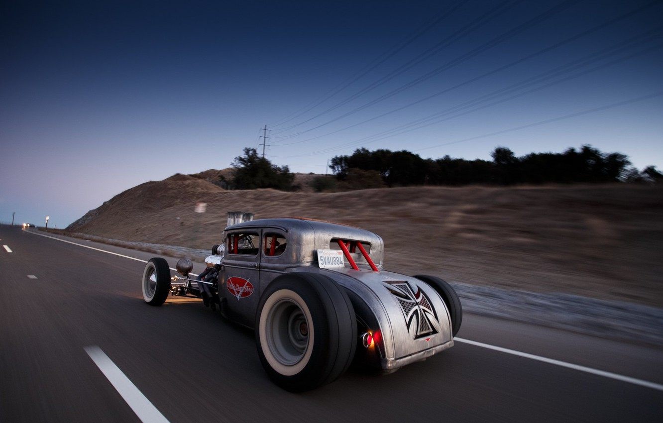 Photo wallpaper Speed, Coupe, Old, Road, Custom, Usa, 1930, Hotrod, Ford Five Window