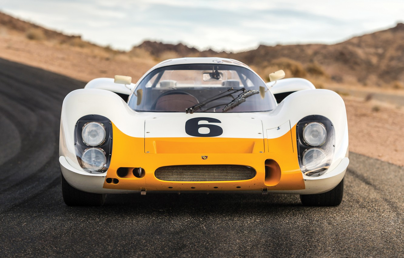 Photo wallpaper Porsche, front view, Coupe, 908, Short tail