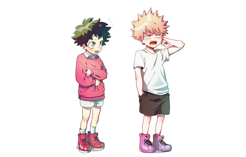 Photo wallpaper anime, art, boys, Boku no Hero Academy, My heroic academia