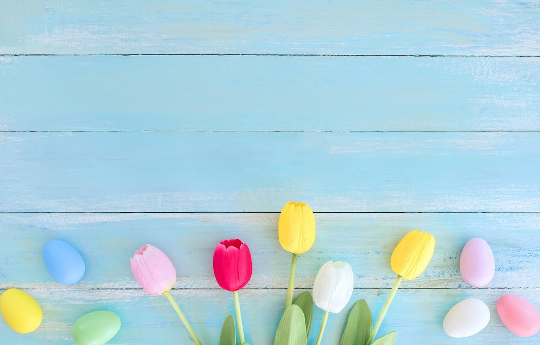 Wallpaper flowers, eggs, spring ...