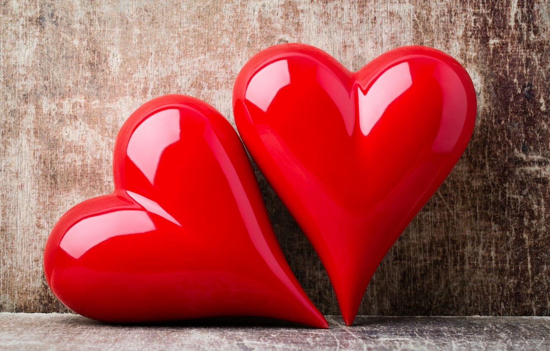 Photo wallpaper love, heart, pair, love, lovers, heart, wood, romantic