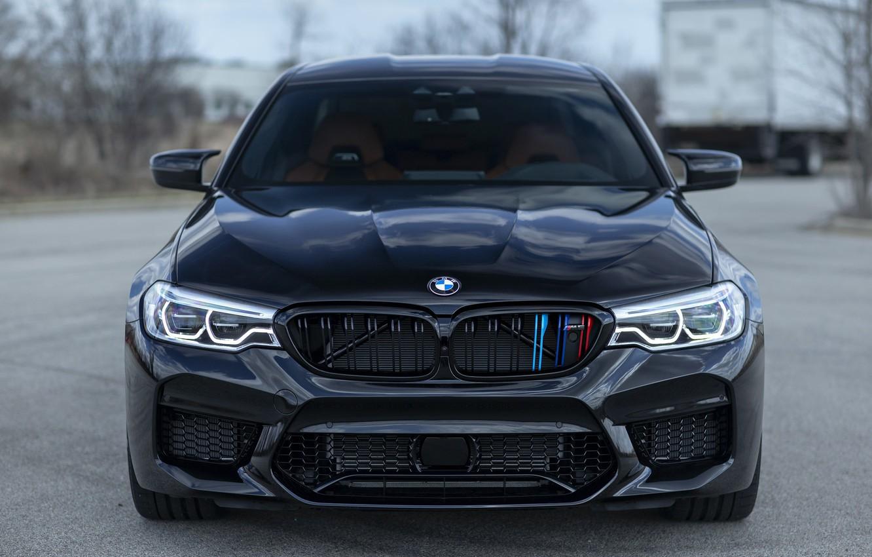 Photo wallpaper BMW, Front, Black, Sight, F90