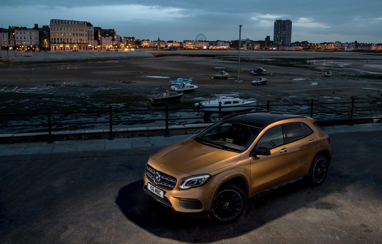 Photo wallpaper Mercedes-Benz, the evening, GLA, 4MATIC, 220d, AMG Line