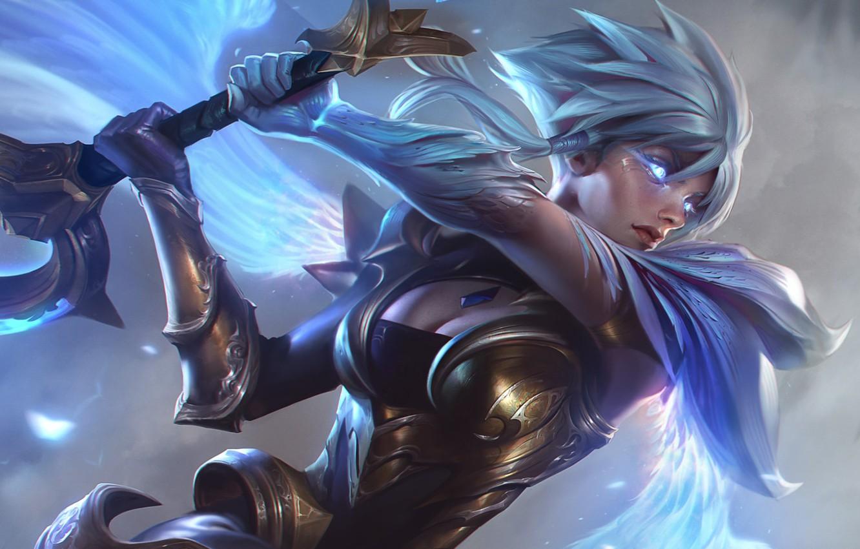 Wallpaper Sword Art League Of Legends Lol Riven Artwork