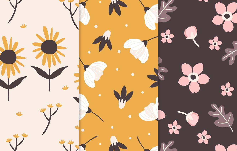 Photo wallpaper flowers, background, texture, patterns, flowers, petals