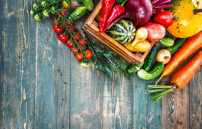 Photo wallpaper harvest, still life, vegetables, fresh, wood, vegetables, healthy, harvest
