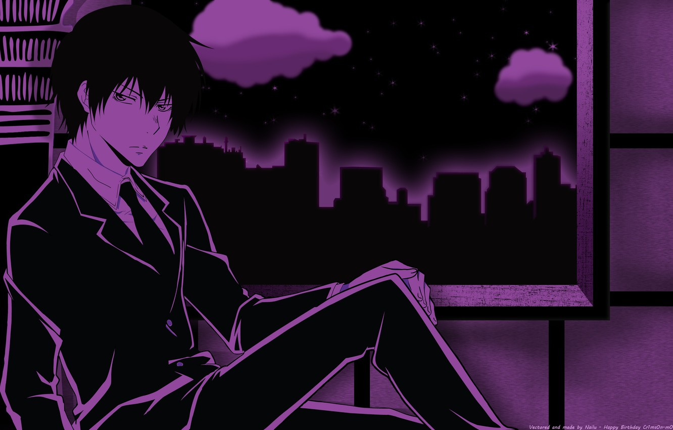 Photo wallpaper anime, art, Katekyo Hitman Reborn!, Hibari Kyoya