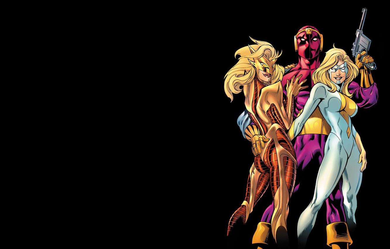 Photo wallpaper comic, Marvel Comics, Thunderbolts, Moonstone, Baron Zemo, Helmut Zero