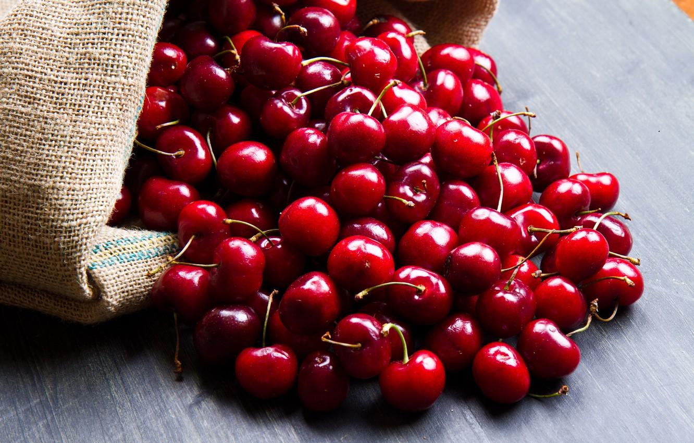 Photo wallpaper berries, cherry, ripe, delicious