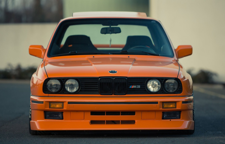 Photo wallpaper Orange, Bmw, E36, M3