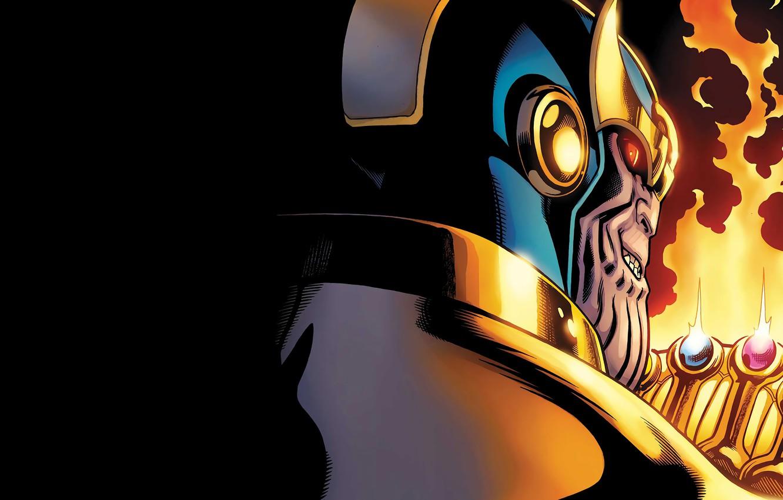 Photo wallpaper Smile, Helmet, Comic, Smile, Marvel, Villain, Comics, Marvel, Comics, Thanos, Thanos, Supervillain, Villain, Supervillain, The …