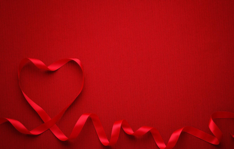 Photo wallpaper heart, tape, red, love, romantic, valentine`s day