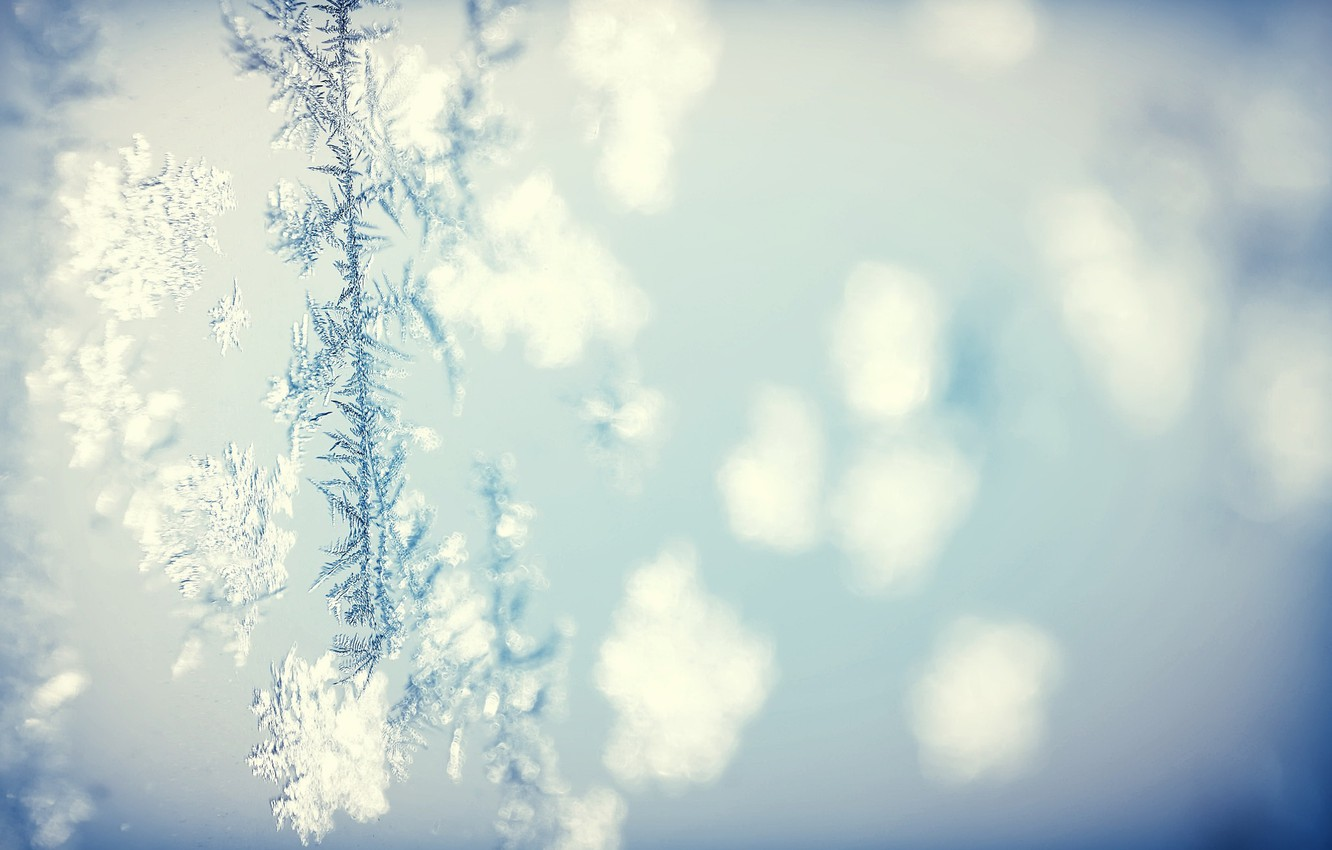 Photo wallpaper cold, winter, background, pattern, texture