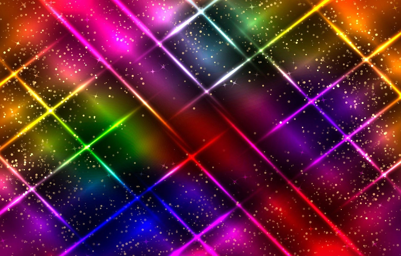 Wallpaper Colorful Abstract Background Neon Glittering