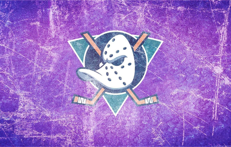 Photo wallpaper ice, emblem, duck, Anaheim Ducks, Anaheim, Mighty Ducks, the mighty ducks, stick, anaheim, hockey mask, …
