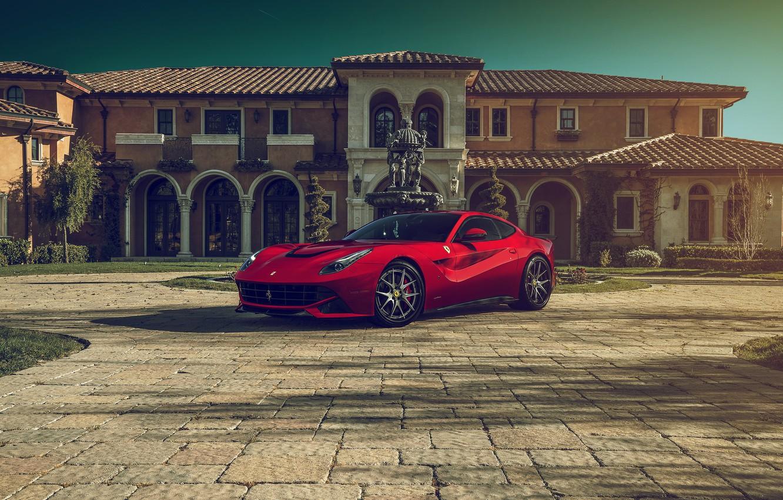 Photo wallpaper Ferrari, Front, Supercar, Berlinetta, F12, Luxury, Wheels