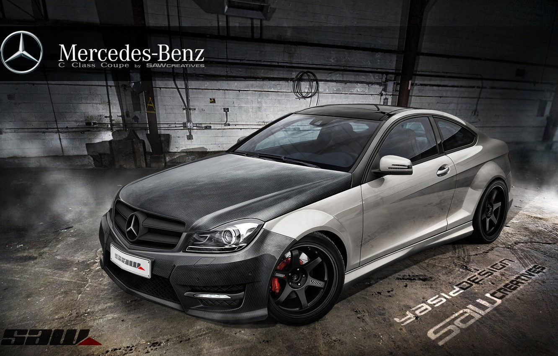 Photo wallpaper car, auto, tuning, Mercedes, Mercedes, car, auto, tuning, Yasid Design, Yasid Oozeear, Mercedes c сlass …