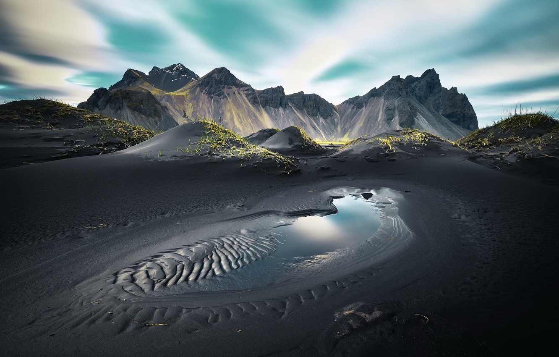 Photo wallpaper mountains, nature, Vestrahorn Islande
