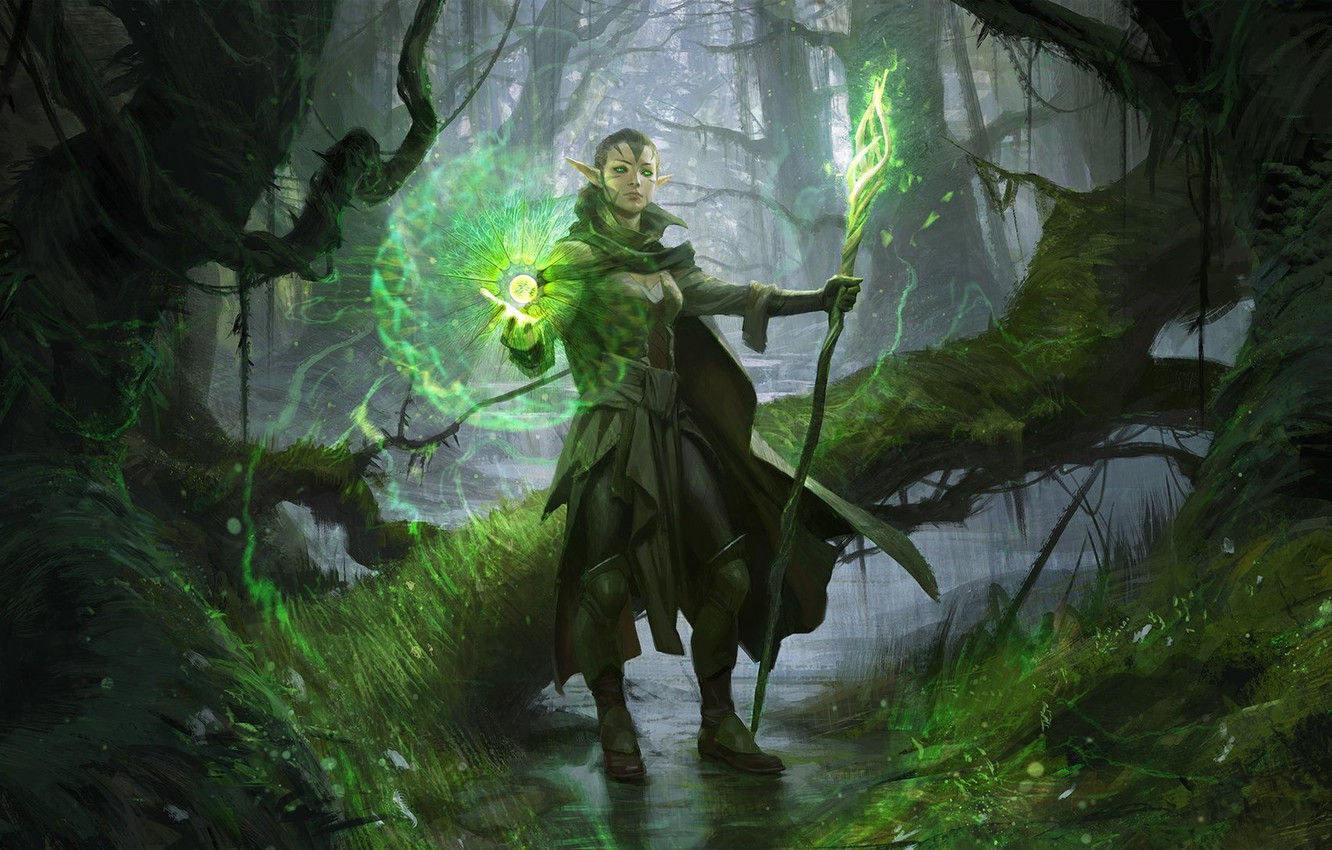 Wallpaper Nyssa We We Nissa Revane Magic The Gathering