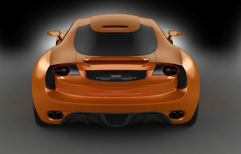 Photo wallpaper orange, rear view, orange, Novitec TuLesto