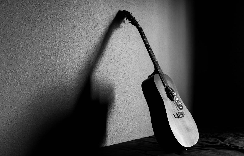 Photo wallpaper light, music, background, guitar, shadow