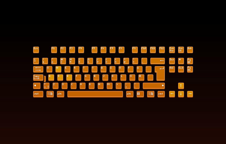 Photo wallpaper Minimalism, Keyboard, Pixels, 8bit, PXL, Button