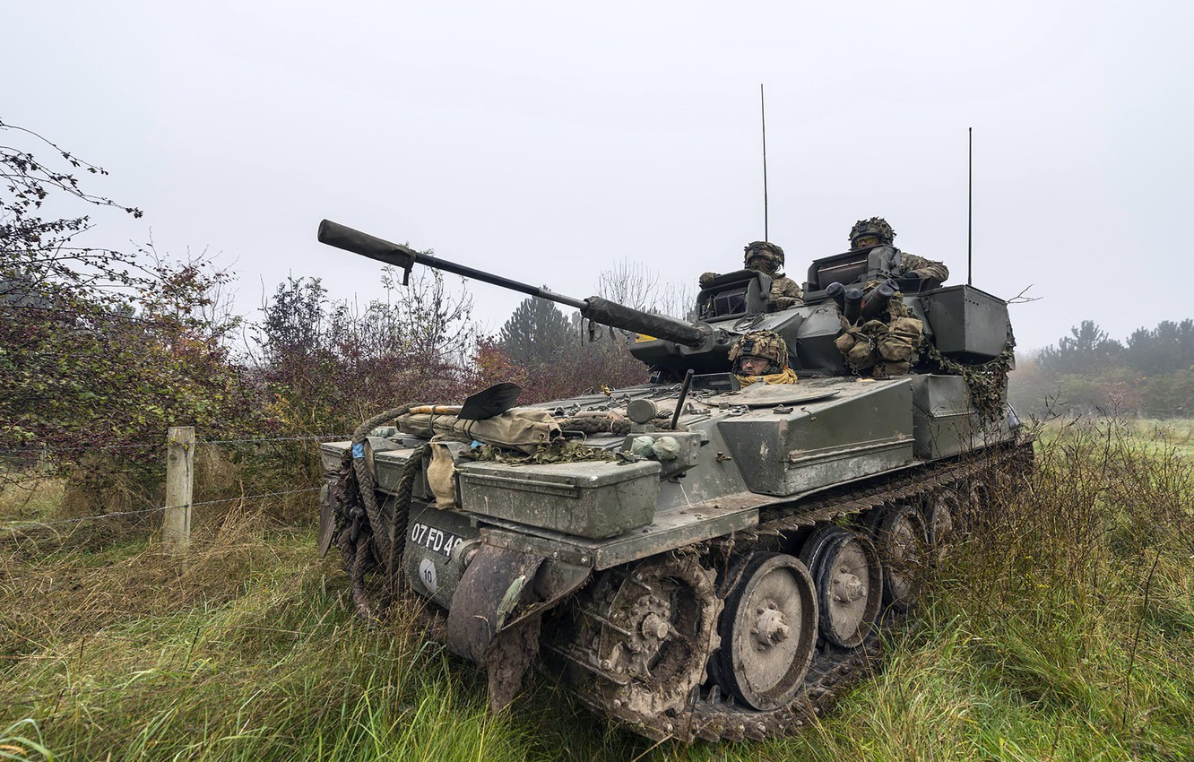 Photo wallpaper weapons, army, Light Tank, Ex Iron Scout 3