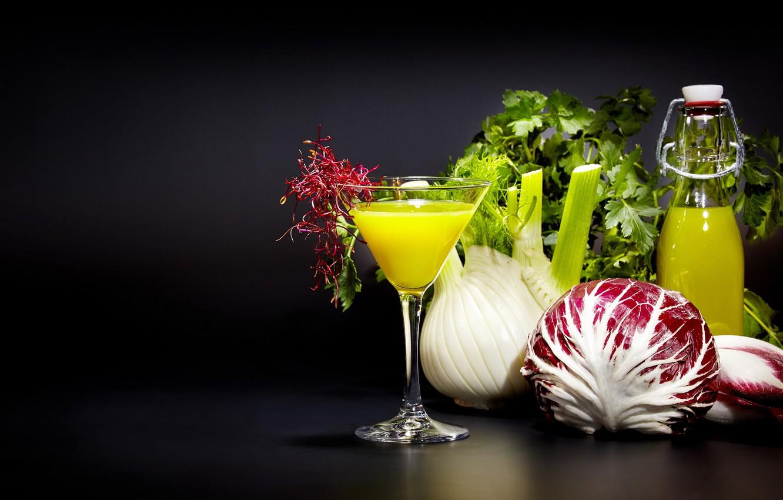 Photo wallpaper greens, juice, drink, vegetables