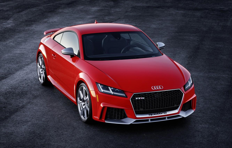 Photo wallpaper Audi, German, Red, 2018, RS, TT