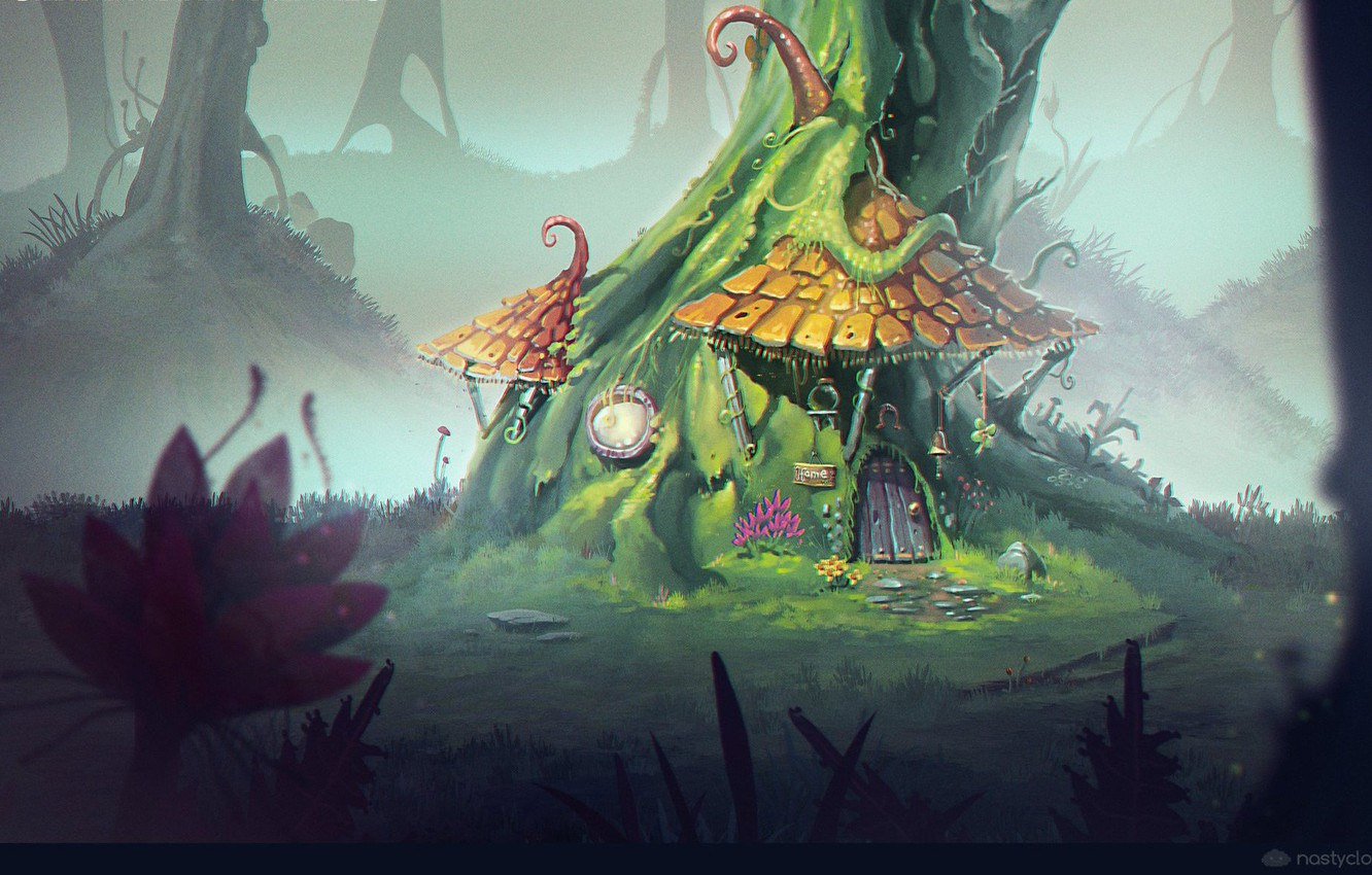 Wallpaper Tree House Housing Concept Art Unlucky Gnome
